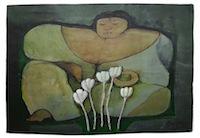 Goajira con Flores Blancas